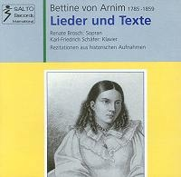 Bettine von Arnim 1785-1859 - Lieder und Texte