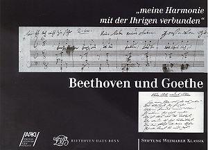 Beethoven und Goethe : ...meine Harmonie mit der Ihrigen verbunden